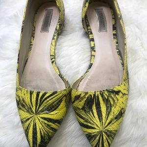 Cole Haan. Yellow pointy flats size 6